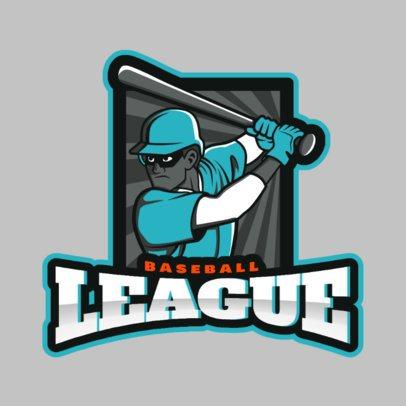 Sports Logo Maker Featuring a Baseball Batter Clipart 172t 2541