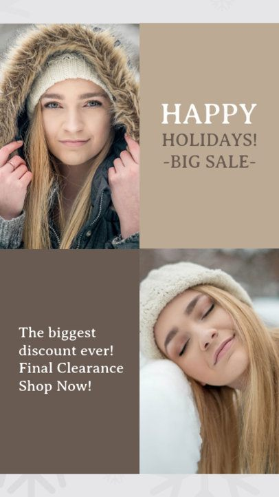 Instagram Story Template for a Big Holiday Sale 967j 1824