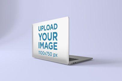 Sticker Mockup Featuring a Macbook Pro at a Studio 677-el