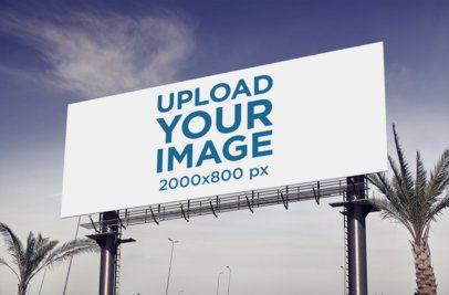 Billboard Mockup Featuring Some Palm Trees 373-el