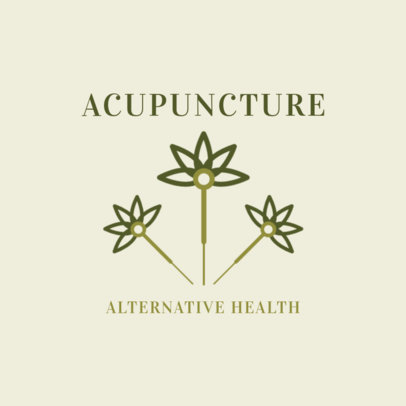 Alternative Medicine Logo Maker Featuring an Acupuncture Needle Illustration 2578