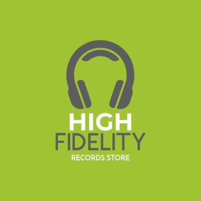 Music Store Logo Maker  with a Minimal Style 1184g 5-el