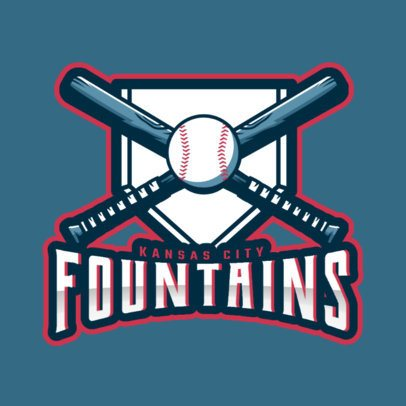Online Logo Maker with Baseballs and Bats 172z-2545