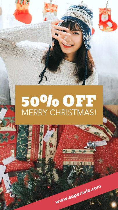 Xmas Insta Story Maker with a Discount Code 961g-1823