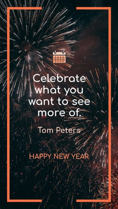 Instagram Story Design Template for a New Year Celebration 597p-1831