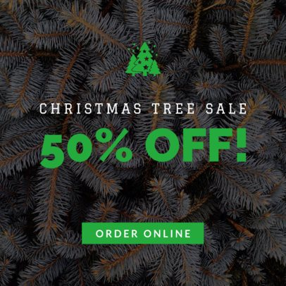 Christmas Banner Maker for a Tree Sale 779l-1839