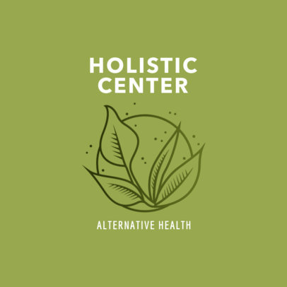 Logo Generator for a Holistic Center with a Plant Illustration 2578c