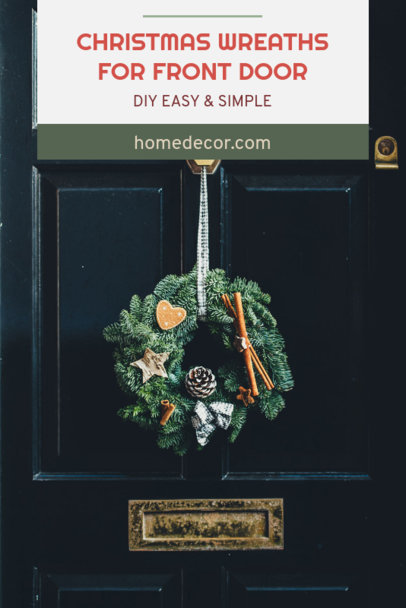 Pinterest Pin Template for an Easy DIY Christmas Wreath 661g 1836