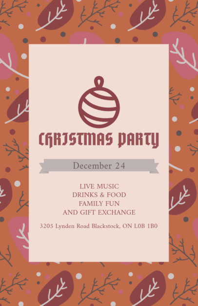 Flyer Template for a Joyful Xmas Party 848h-1837