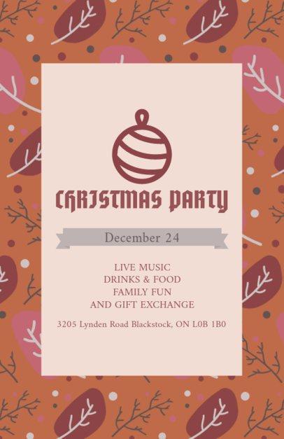Flyer Template for a Joyful Xmas Party 848h-1837
