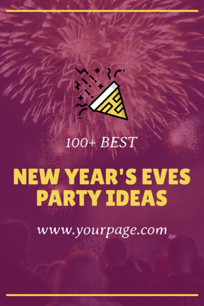 Pinterest Pin Generator for New Year Party Ideas Featuring Fireworks 1768f - 1862
