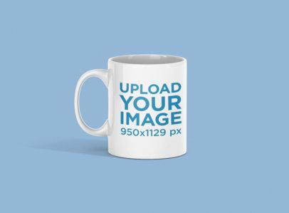 11 oz Coffee Mug Mockup Featuring a Customizable Backdrop 692-el