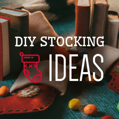Christmas Facebook Post Template for a DIY Stocking Ideas Post 564v 1835