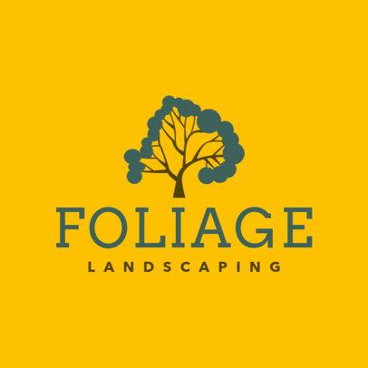Landscaping Company Logo Maker Featuring Tree Graphics 1423i-25-el