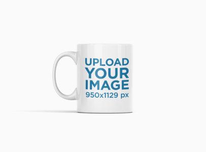 Minimalist Mockup of an 11 oz Coffee Mug at a Colored Backdrop 693-el