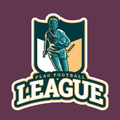 Logo Maker for an All-Female Flag Football Team 245dd-2601