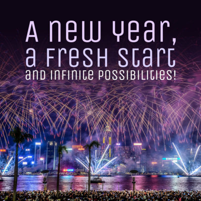 Social Media Post Maker for a New Start in the New Year 563aa-1861