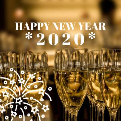 Social Media Post Maker for a Happy New Year Post 563v-1861