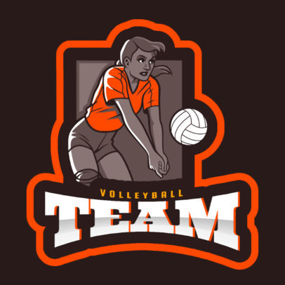 Sports Logo Creator Featuring a Woman Playing Volleyball 2601d