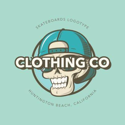Santa Cruz Inspired Logo Maker for a Clothing Brand 2591