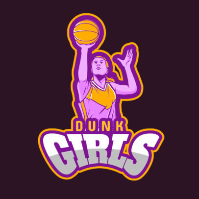 Women's Basketball Logo Maker for a Sports Team 336k-2601