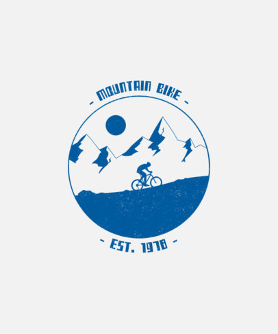 T-Shirt Design Maker with a Mountain Illustration 1850d