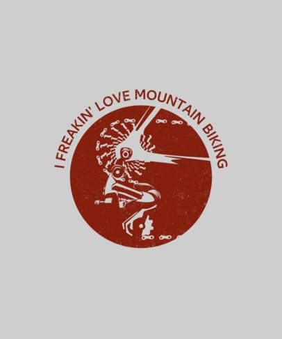 Mountain Biking T-Shirt Design Template 1850e