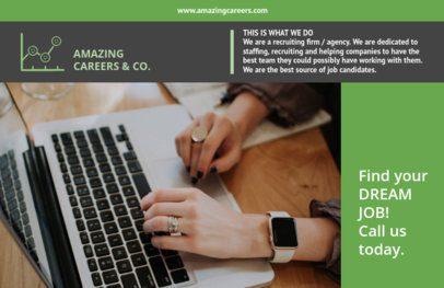 Recruitment Flyer Template Green Theme 229a