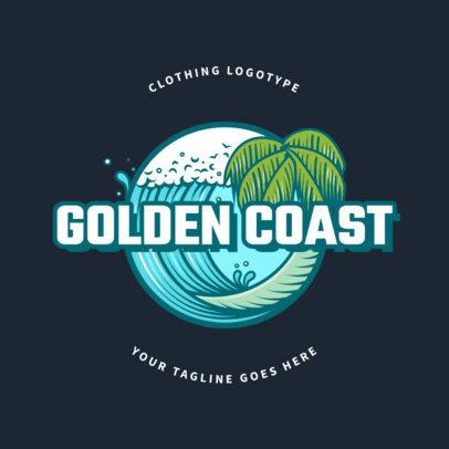 Clothing Brand Logo Maker Featuring a Santa Cruz Inspired Beach Graphic 2591a
