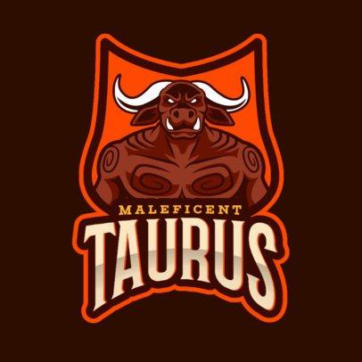 Gaming Logo Maker Featuring a Tauren-Like Warrior Character 2613r