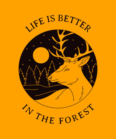 T-Shirt Design Creator Featuring a Forest Clipart 1847c