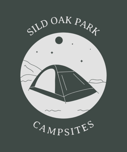 T-Shirt Design Template for Camping Aficionados 1847h