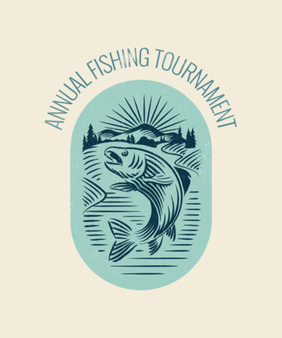 T-Shirt Design Template for a Fishing Tournament 1848b