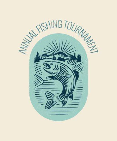 T-Shirt Design Template for a Fishing Tournament 1848b