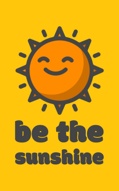 Summer T-shirt Design Template Featuring a Happy Sun Illustration 351g-18-el