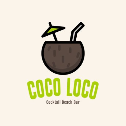 Simple Logo Generator for a Cocktail Beach Bar 1760g 18-el