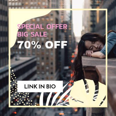 Online Banner Maker for a Big Sale Featuring a Minimalist Design 268h 1886