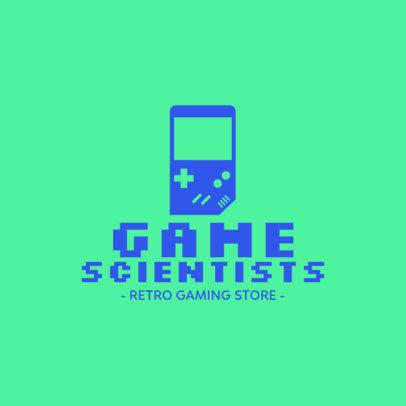 Gaming Logo Maker for a Vintage Store 1289f-2-el