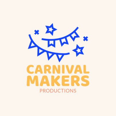 Party Organizers Logo Maker with a Carnival Theme 1334f-54-el