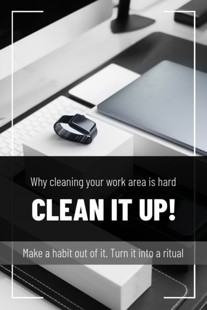 Pinterest Pin Generator with Cleaning Tips for Your Workspace 1885c