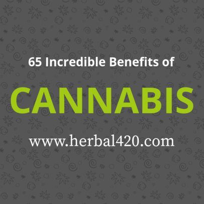 Design Template for a Twitter Post About Cannabis Benefits  16613k - 1898