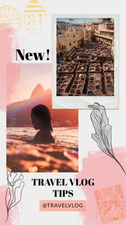 Collage-Styled Instagram Story Generator for Travelers 1899
