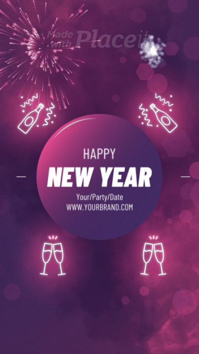 Instagram Story Video Maker for a Happy New Year's Festivity