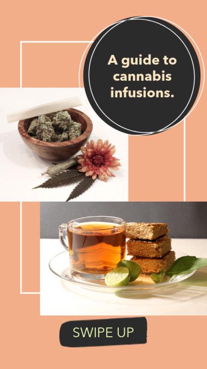 Marijuana-Themed Instagram Story Template for Recipes 858h-1889
