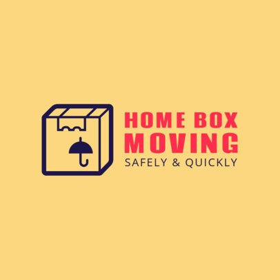 Moving Company Logo Maker with a Box Clipart 1197g 44-el