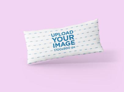 Pillow Mockup Featuring a Solid Color Backdrop 706-el