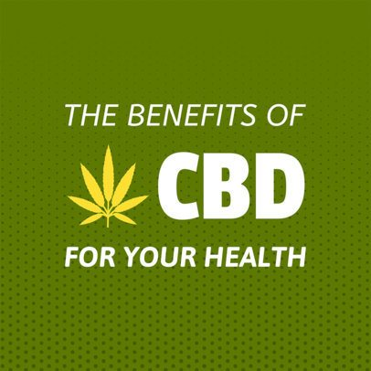 Social Media Post Maker About CBD Oil Benefits 1895