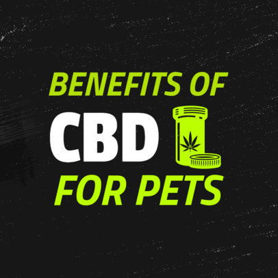 Facebook Post Template On CBD Benefits for Pets 1895c