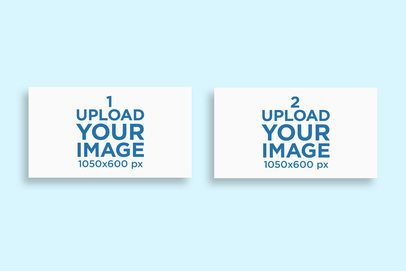 Minimal Mockup Featuring Two Business Cards Lying on a Colored Surface 775-el