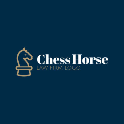 Law Logo Maker Featuring a Chess Knight Piece Icon 1852f-43-el